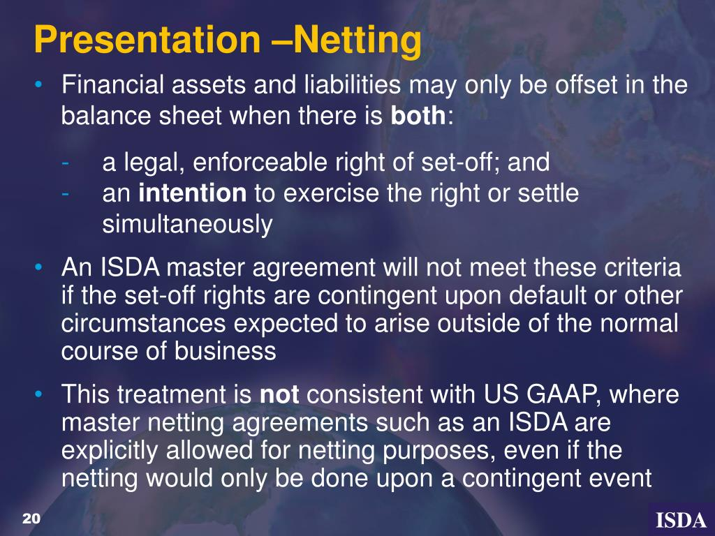 Presentation –Netting