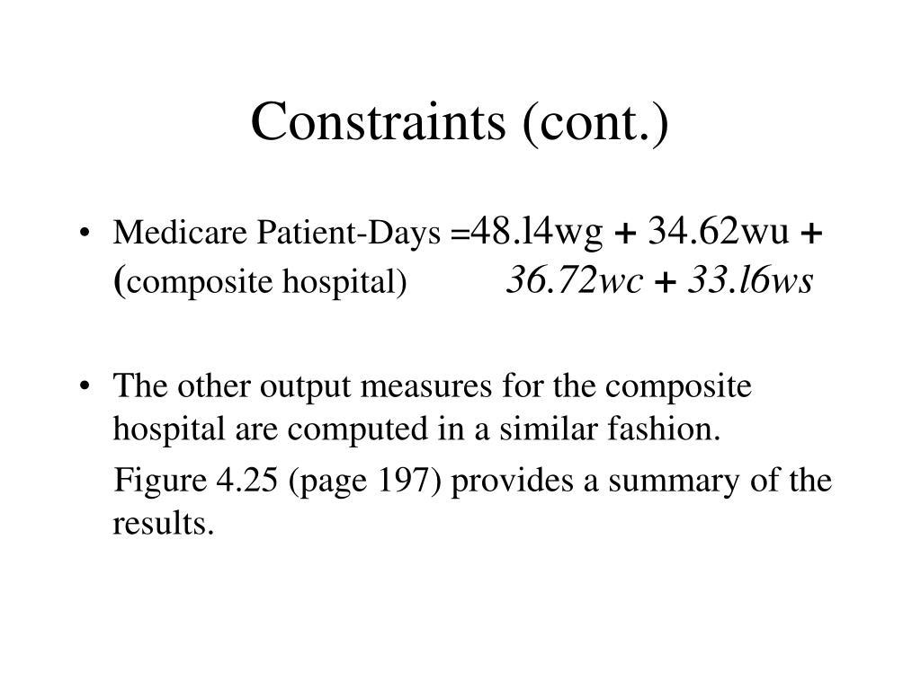 Constraints (cont.)