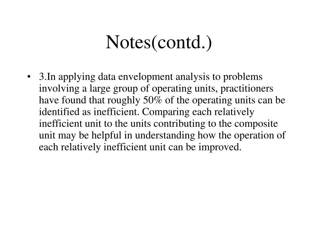 Notes(contd.)
