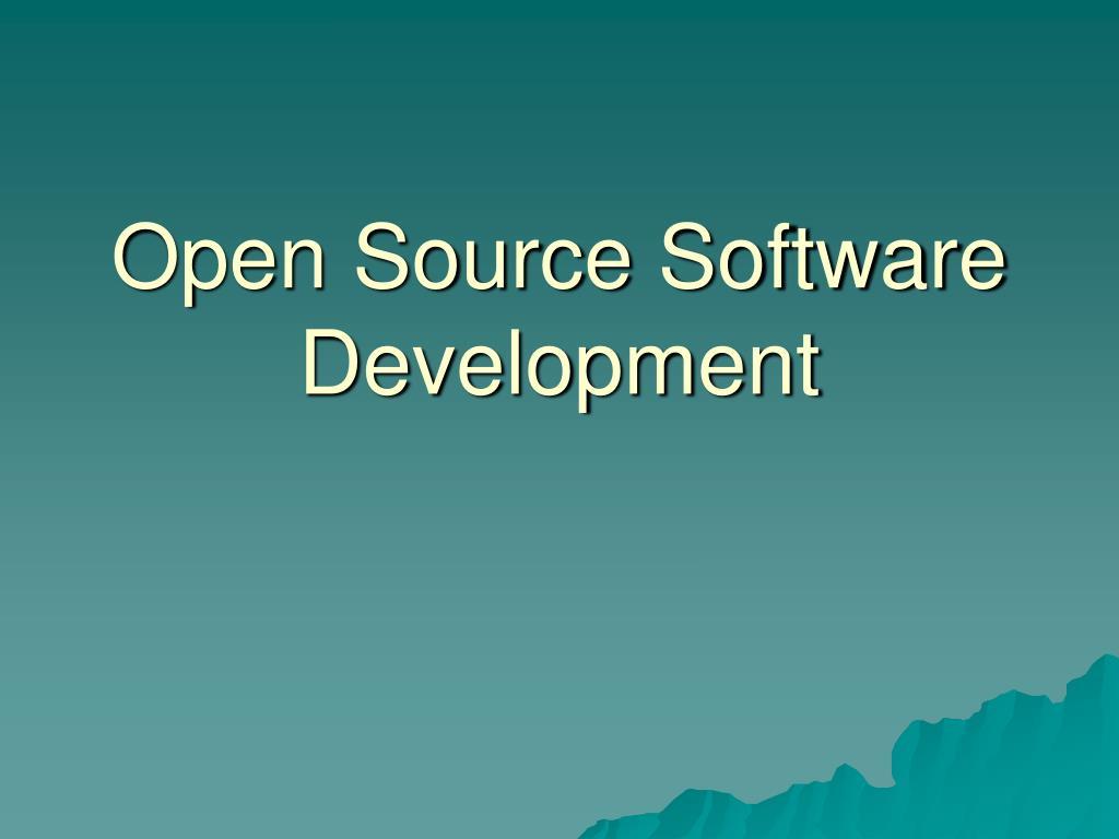 open source software development l.