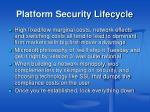 platform security lifecycle
