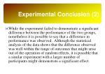 experimental conclusion 2