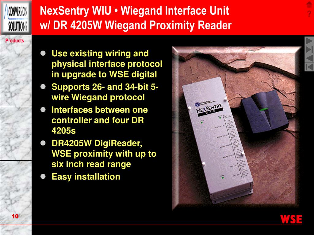 NexSentry WIU • Wiegand Interface Unit