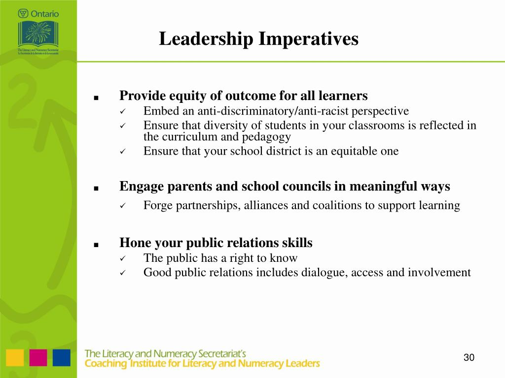 Leadership Imperatives