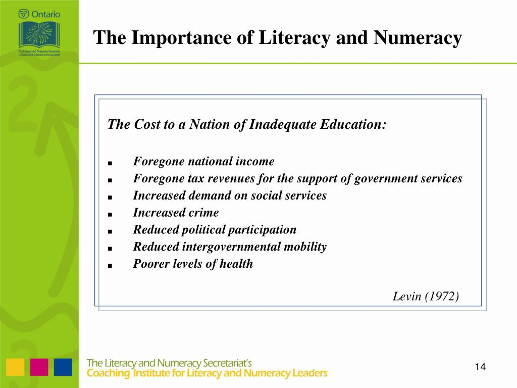 The Importance of Literacy and Numeracy