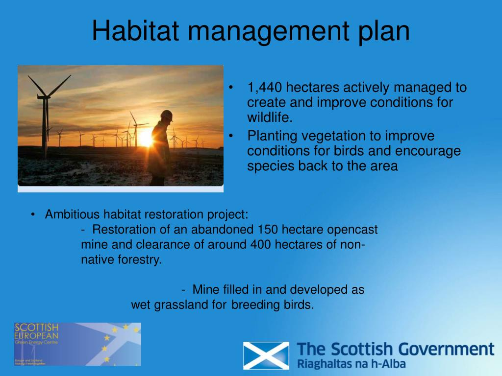 Habitat management plan