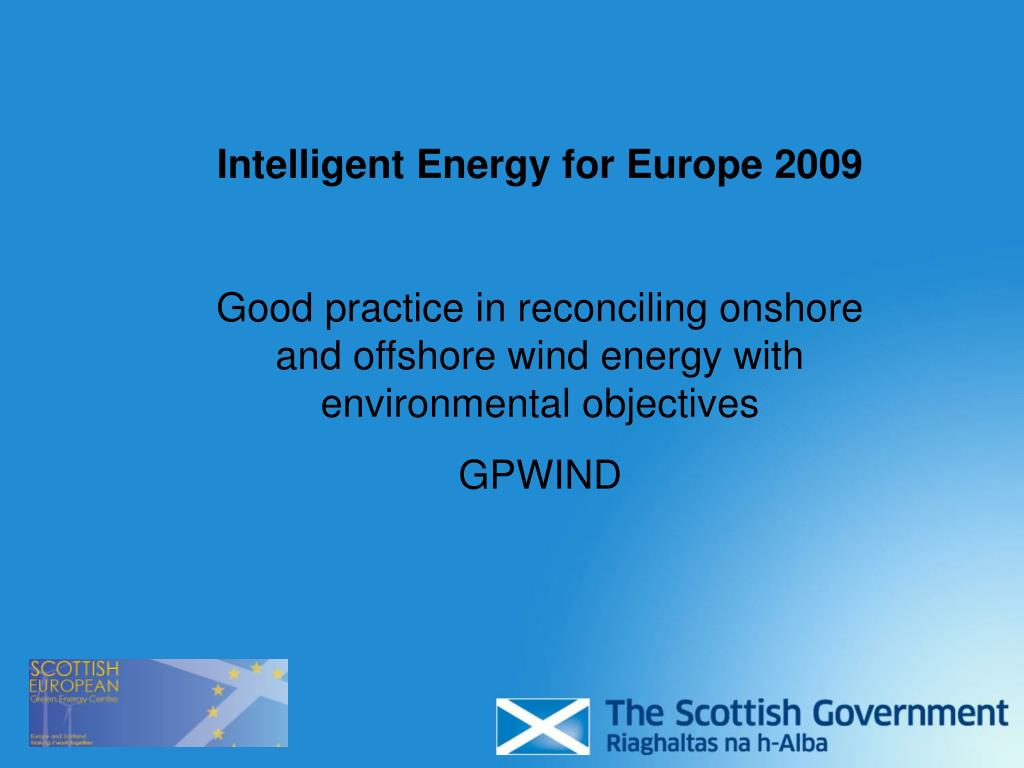 Intelligent Energy for Europe 2009