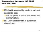 comparison between iso 9001 and sei cmm