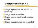 design control 4 460
