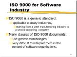 iso 9000 for software industry