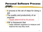 personal software process psp111