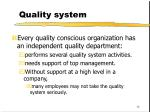 quality system16