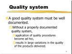 quality system18