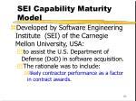 sei capability maturity model