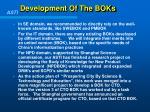 development of the boks
