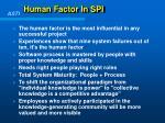 human factor in spi