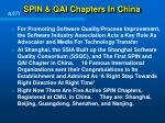 spin qai chapters in china