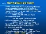 training materials ready