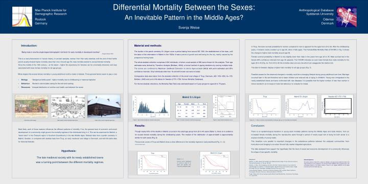 Differential mortality between the sexes an inevitable pattern in the middle ages