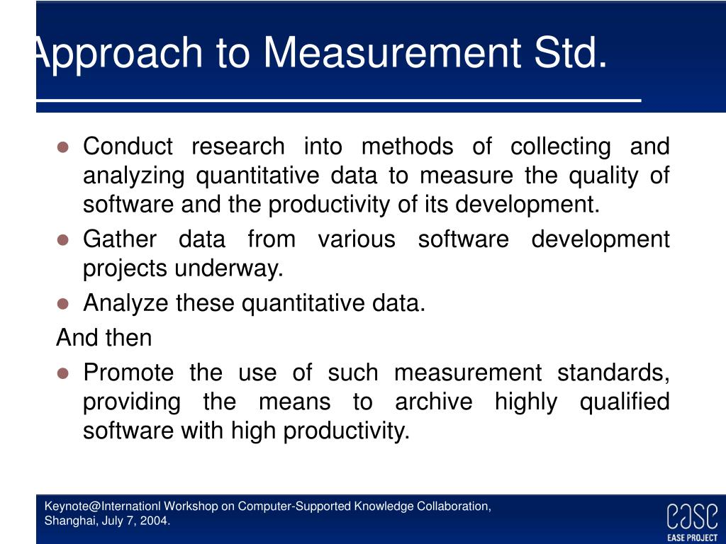 Approach to Measurement Std.