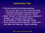 automation tips