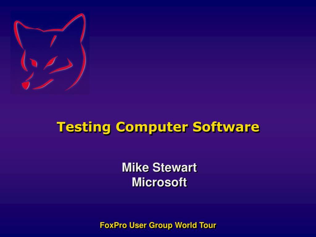 testing computer software l.