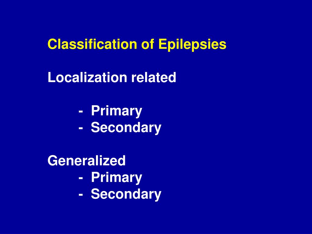 Classification of Epilepsies