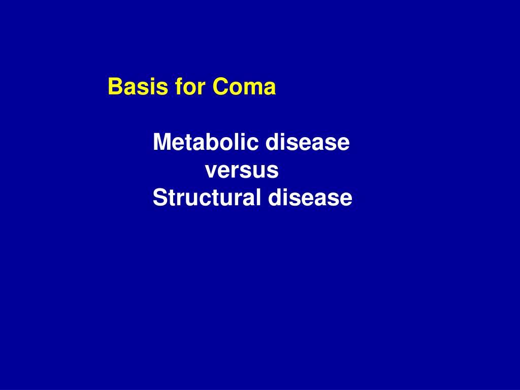 Basis for Coma