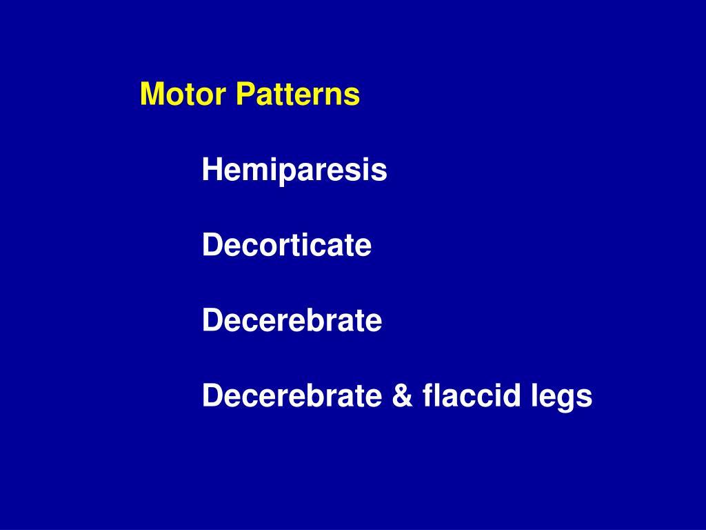 Motor Patterns
