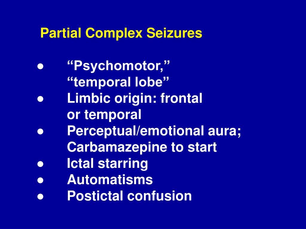Partial Complex Seizures