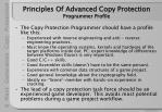 principles of advanced copy protection programmer profile