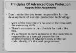 principles of advanced copy protection responsibility assignments