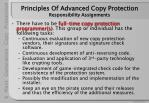 principles of advanced copy protection responsibility assignments24