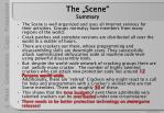 the scene summary