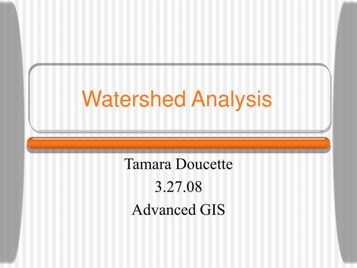 watershed analysis n.