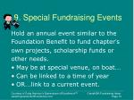 9 special fundraising events
