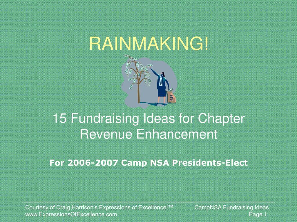 rainmaking l.