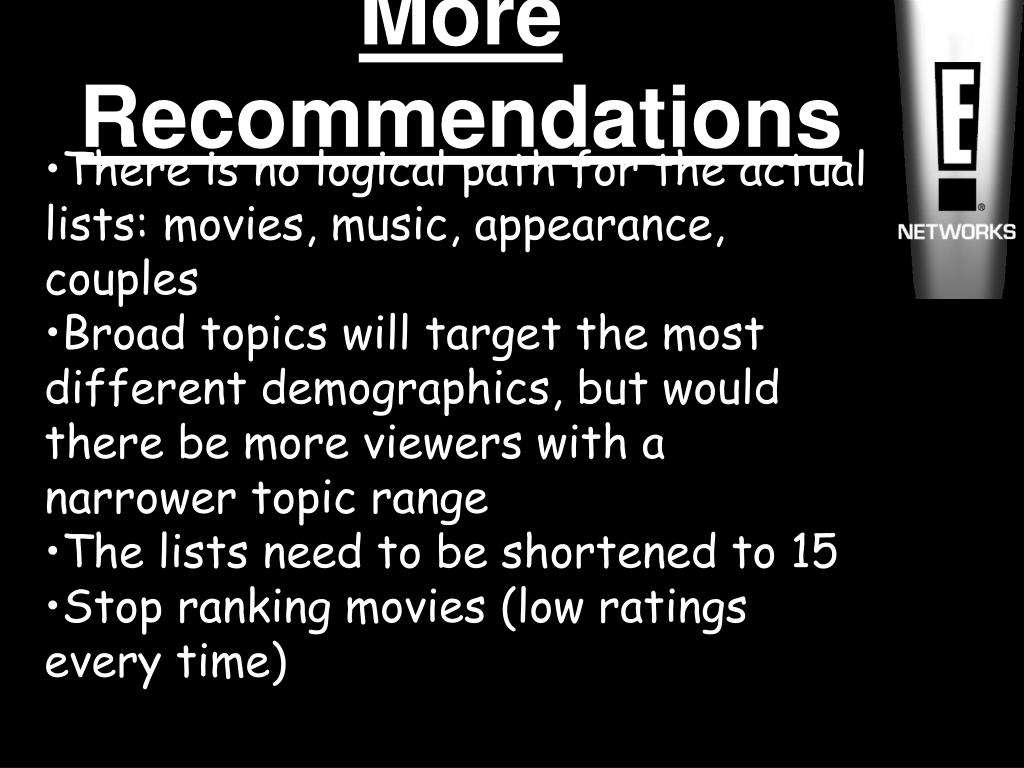 More Recommendations