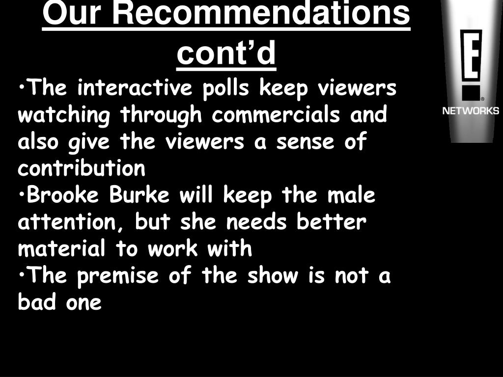 Our Recommendations cont'd