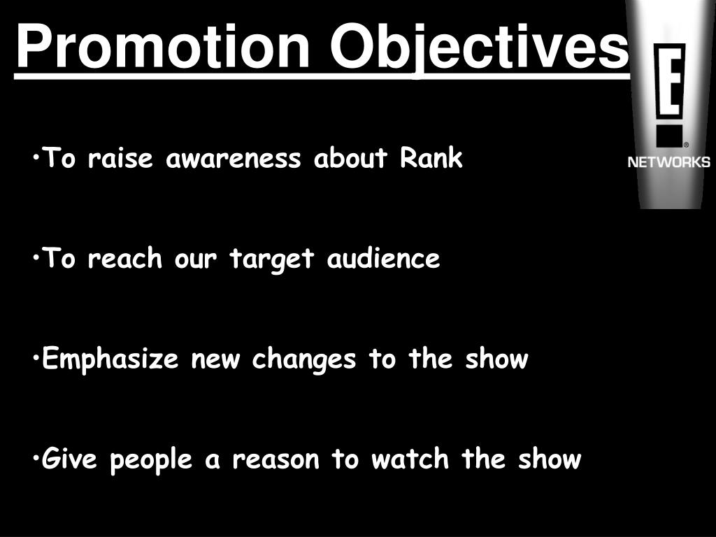 Promotion Objectives