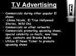t v advertising