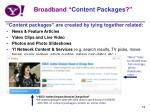 broadband content packages
