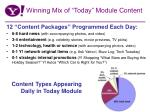 winning mix of today module content