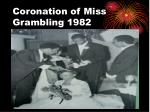 coronation of miss grambling 1982