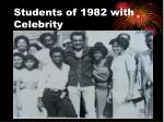 students of 1982 with celebrity