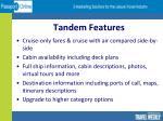 tandem features