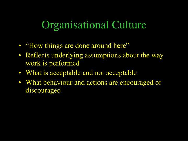 Organisational culture1