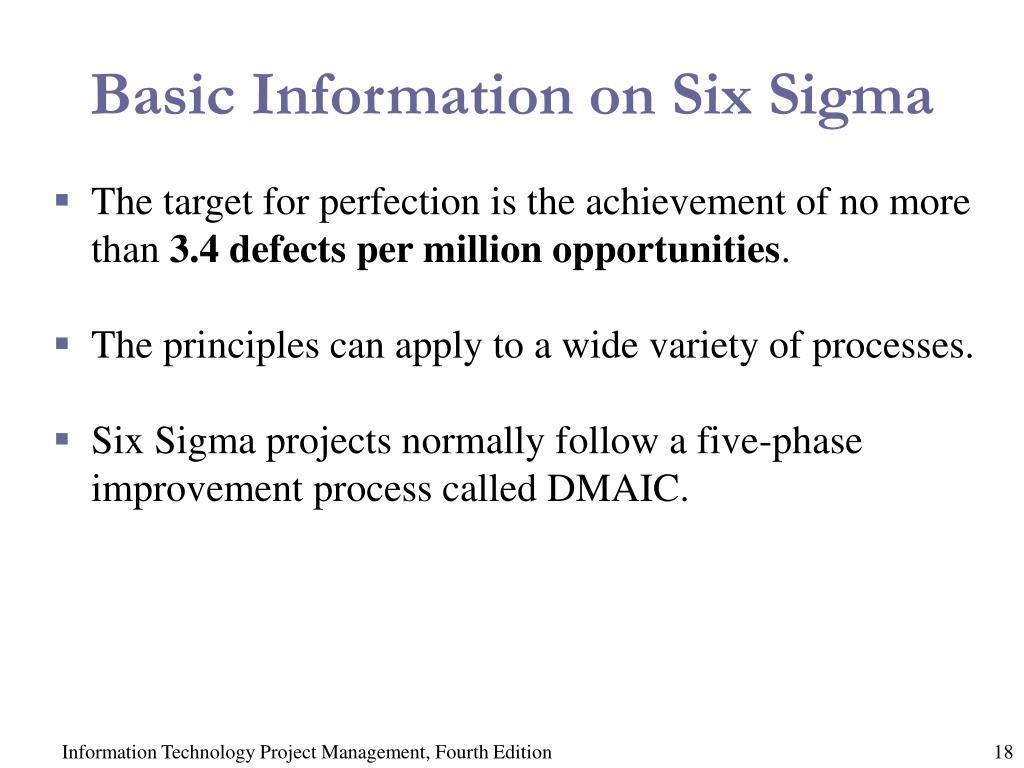 Basic Information on Six Sigma