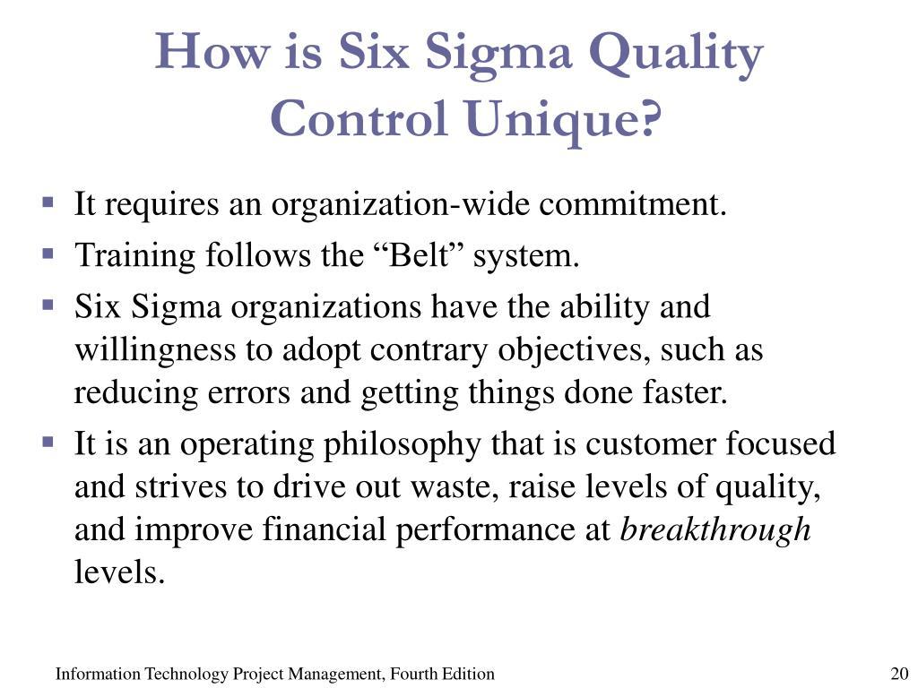 How is Six Sigma Quality