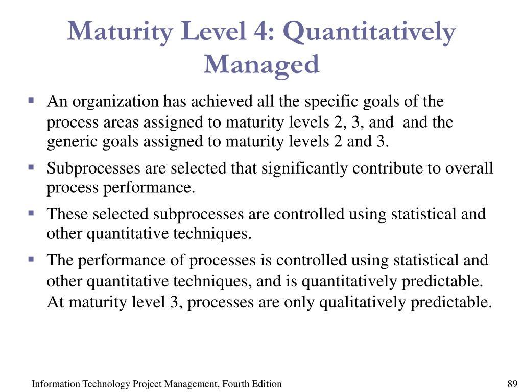 Maturity Level 4: Quantitatively Managed